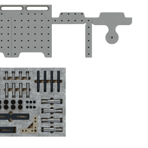 CMM Fixture System 12in Dock with Starter Clamp Kit