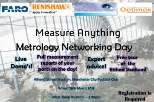 Measure Anything - Metrology Networking day - Open House Event @ Etihad Stadium